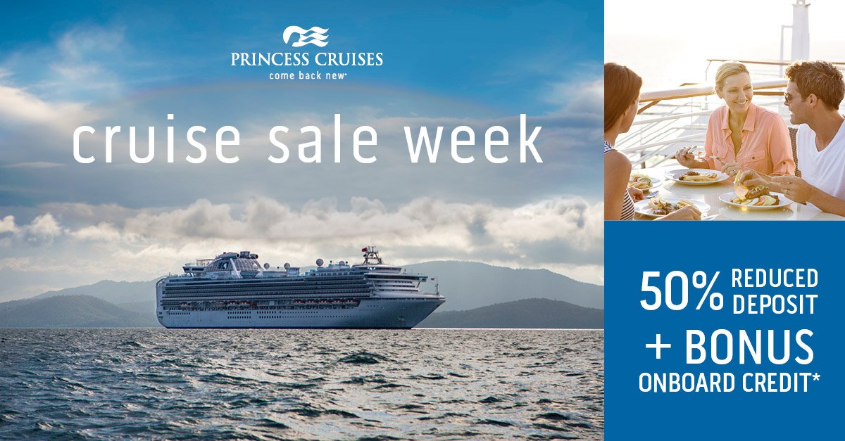 Princess Cruise Sale Week banner