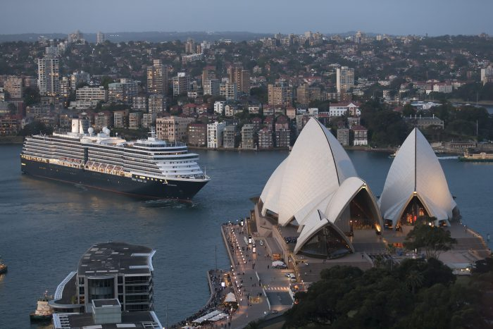 Holland America in Sydney Harbour