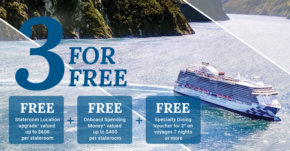 Princess Cruises 3 for Free