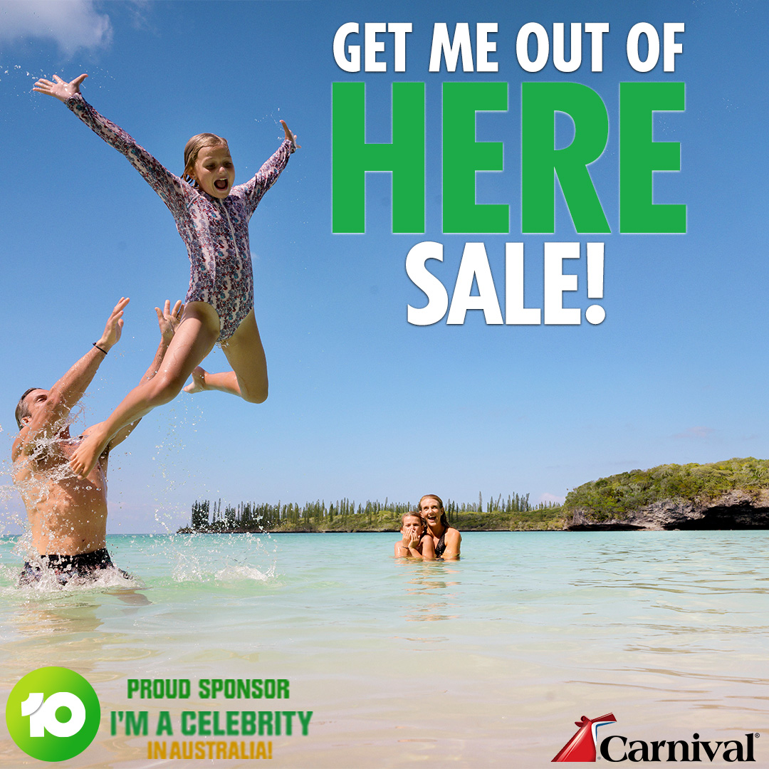 Carnival Get me out of here New Year Cruise Sale