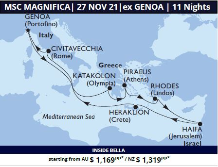 MSC Magnifca Ancient Greece & the Holy Land