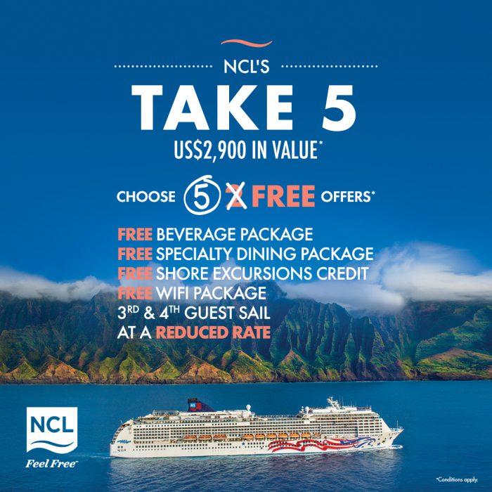 Norwegian Cruise Lines Take5 sale