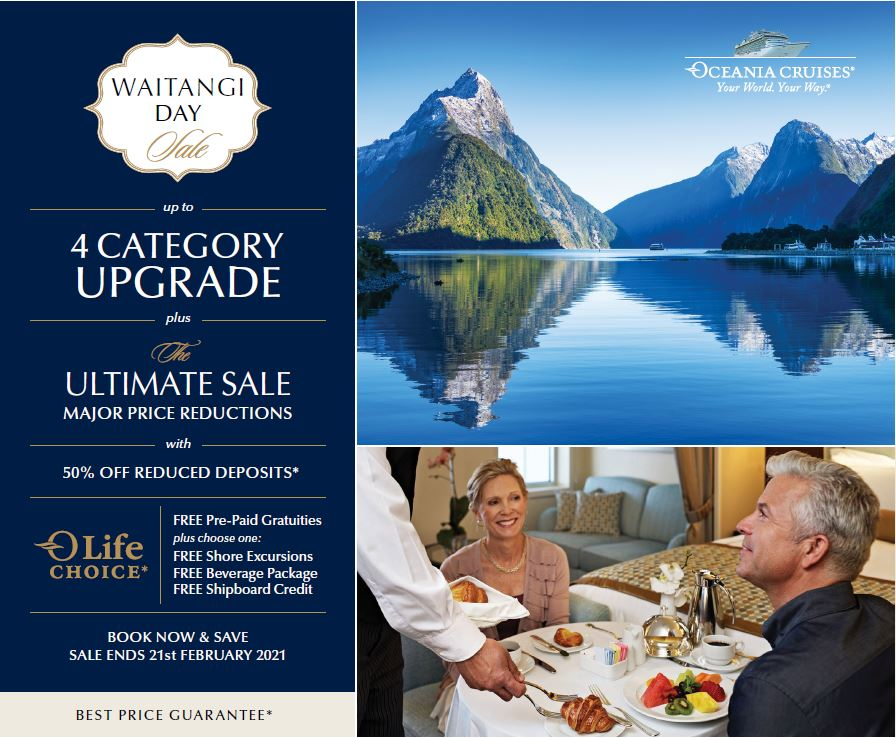 Oceania Waitangi day Sale