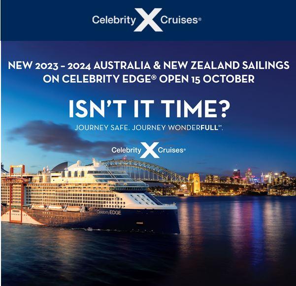 Celebrity Edge Cruises from Sydney & Auckland